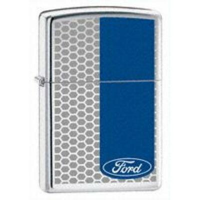 24033 Zippo öngyújtó, fényes ezüst színben - Ford BARS High Polish Chrome