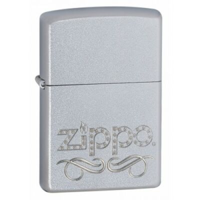24335 Zippo öngyújtó, króm színben logóval - Pergamentekercs