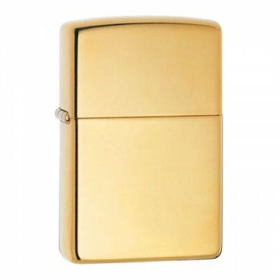 254B Zippo öngyújtó, fényes arany színben, gravírozható