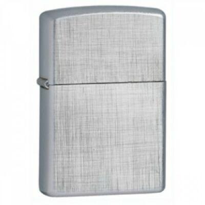 28181 Zippo öngyújtó ezüst színben - Vászon szövés mintával
