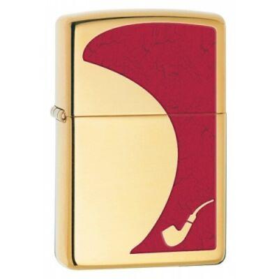 28322 Zippo benzines, fényes arany színben - Pipa gyújtó