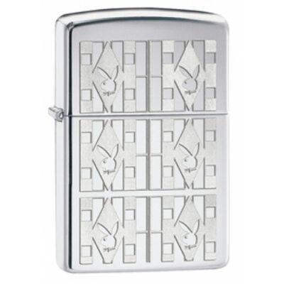 28624 Zippo öngyújtó, fényes ezüst színben - Playboy emblémák
