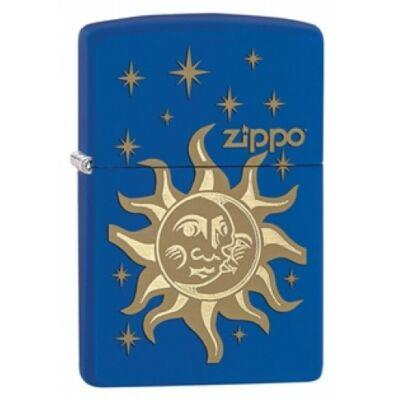 28791 Zippo öngyújtó, matt királykék színben logóval - Nap és Hold