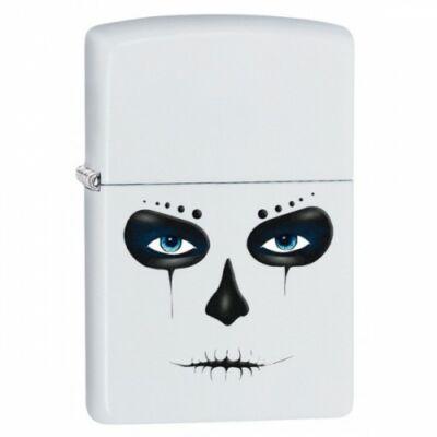 28828 Zippo öngyújtó, Matt fehér - Skull Mask