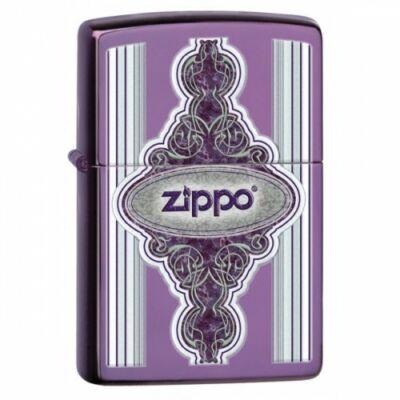 28866 Zippo öngyújtó, abyss lila színben, logóval - Régi Keret