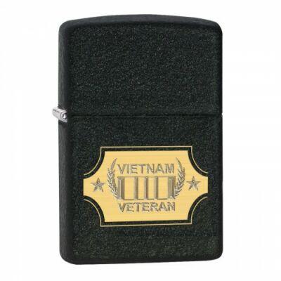 28875 Zippo öngyújtó, rücskös fekete színben - Vietnam Veteran felirattal
