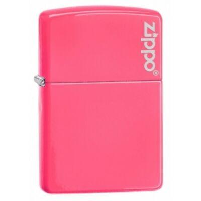 28886ZL Zippo öngyújtó, neon rózsaszín színben logóval