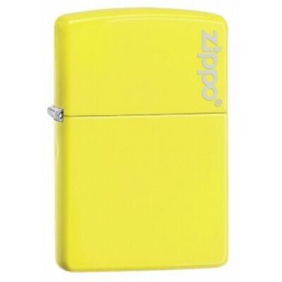 28887ZL Zippo öngyújtó, neon sárga színben logóval