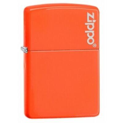 28888ZL Zippo öngyújtó, neon narancssárga színben logóval