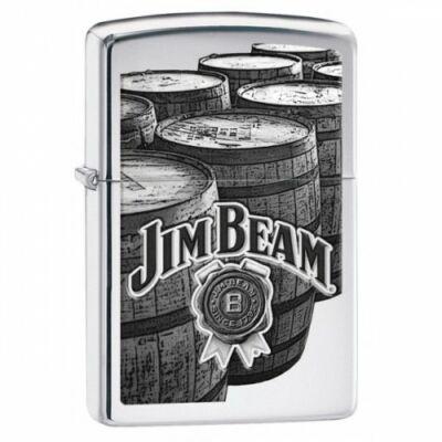 29324 Zippo öngyújtó, Fényes ezüst színben - Jim Beam