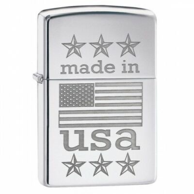 29430 Zippo öngyújtó, Fényes ezüst színben - Made in USA