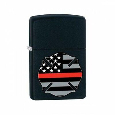 29553 Zippo öngyújtó, Csiszolt Króm fekete színű - USA