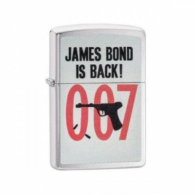 29563 Zippo öngyújtó, Csiszolt Króm színű - James Bond