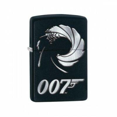 29566 Zippo öngyújtó, Matt fekete színű - 007 Örvény