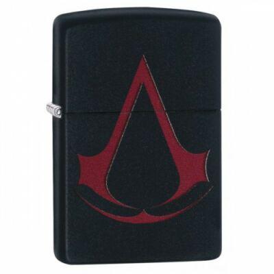 29601 Zippo öngyújtó, Matt fekete színbe - Assassin's Creed