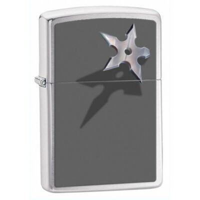 28030 Zippo öngyújtó, finoman csiszolt ezüst - Dobócsillag