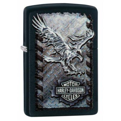 28485 Zippo öngyújtó, matt fekete színben -Harley Davidson®