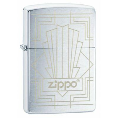 49206 Zippo öngyújtó szálcsiszolt, ezüst színben Zippo lézergravírral
