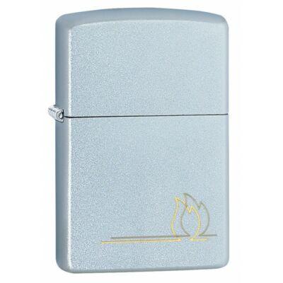 49210 Zippo öngyújtó ezüst színben, Zippo láng, lézer gravírozott