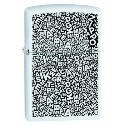 49213 PF 20 ZL Scattered Letter Design Zippo öngyújtó