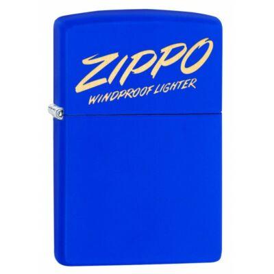 49223 Zippo öngyújtó Matt királykék színben Zippo logóval