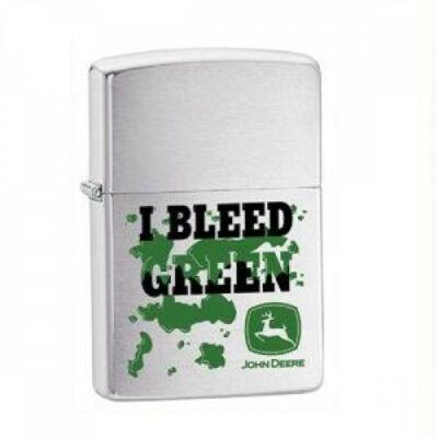 24310 Zippo öngyújtó, ezüst színben - Zöld a vérem
