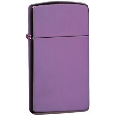 28124 Zippo öngyújtó, lila színben, vékony kivitel