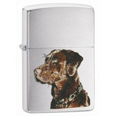 21091 Zippo öngyújtó, ezüst színben - Kutya