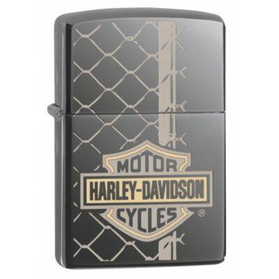 29737 Zippo Black Ice színben -Lézeres Harley-Davidson ®