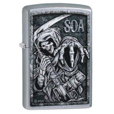 49004z Zippo öngyújtó selyemfényű króm,  Sons of Anarchy™