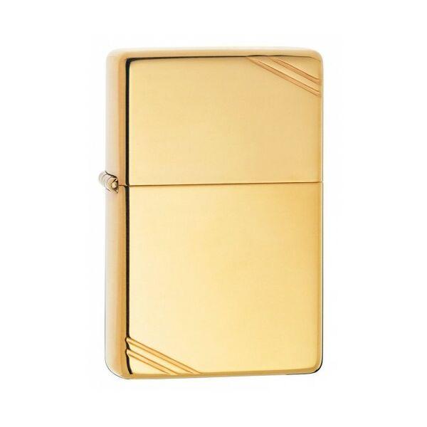 270 Zippo öngyújtó, fényes arany színben, gravírozható