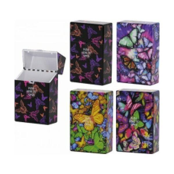 40501 Mûanyag cigaretta tartó - pillangó mintával
