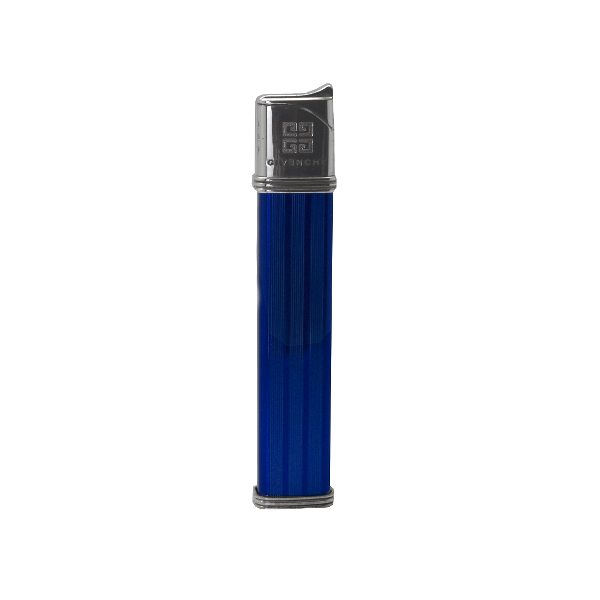 G27-7634 Givenchy gravírozható kék-ezüst színű öngyújtó, utolsó darab