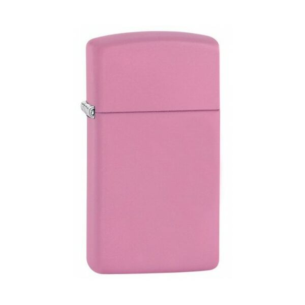 1638 Zippo öngyújtó, rózsaszín színben, vékony