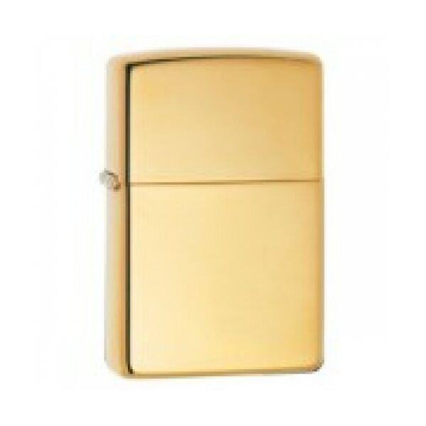 169 Zippo öngyújtó, fényes arany színben, gravírozható