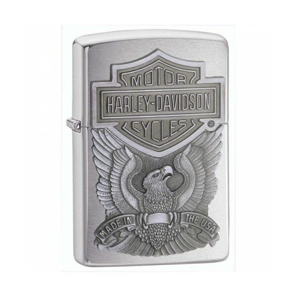 200HDH284 Zippo Öngyújtó, csiszolt króm- Harley Davidson