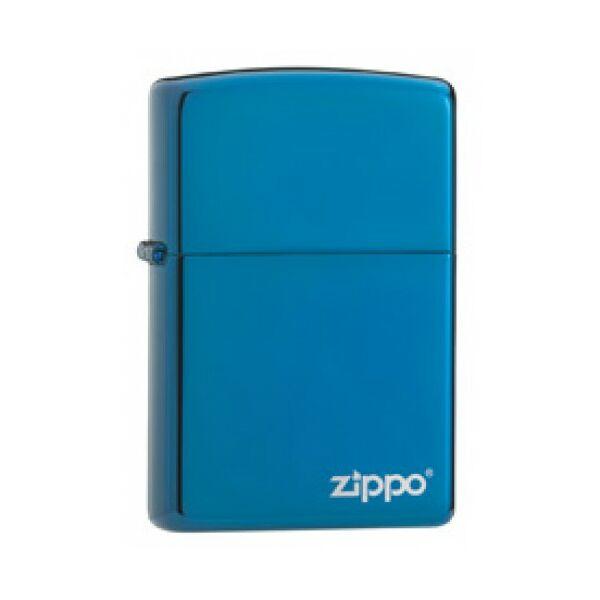 20446ZL Zippo öngyújtó, fényes zafírkék színben logóval