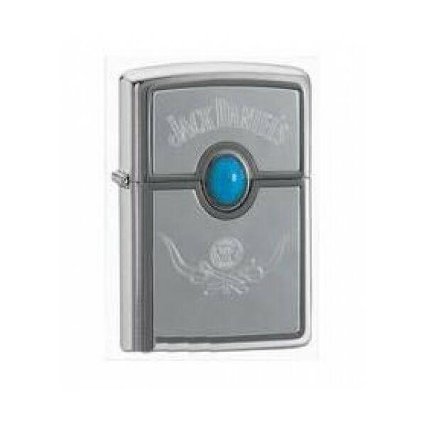20675 Zippo öngyújtó, matt ezüst színben, Jack Daniels - Opál köves