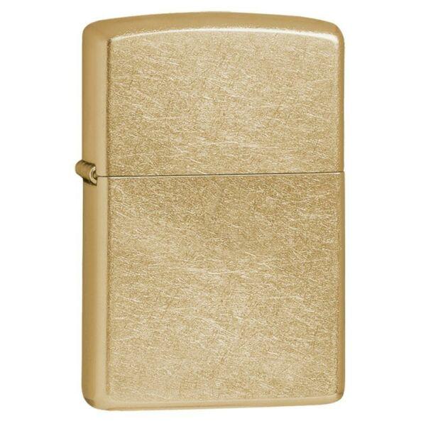 207G Zippo öngyújtó, antikolt arany színű