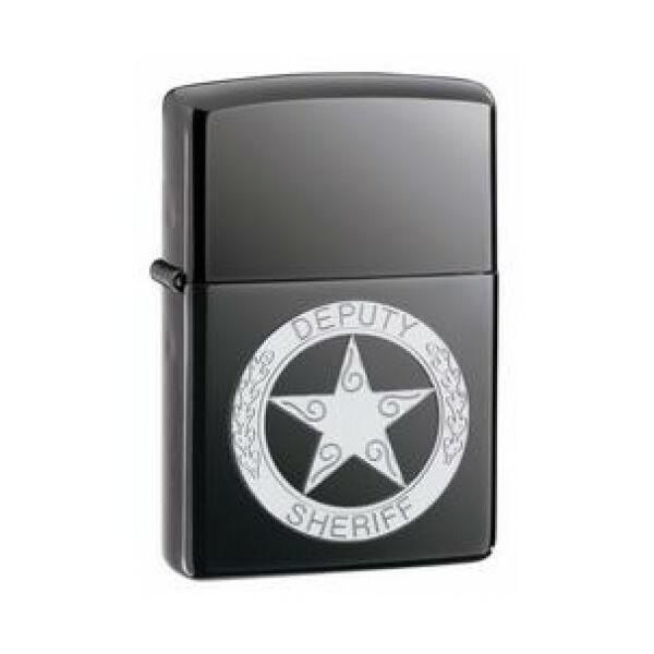 20898 Zippo öngyújtó, black ice színben - SHERIFF embléma