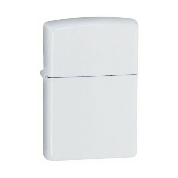 214 Zippo öngyújtó, matt fehér színben, gravírozható