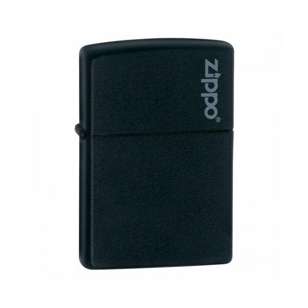 218ZL Zippo öngyújtó, matt fekete színben logóval