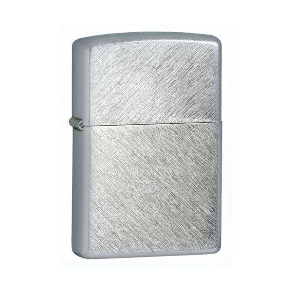 24648 Zippo öngyújtó, ezüst színben keresztbe csiszolt