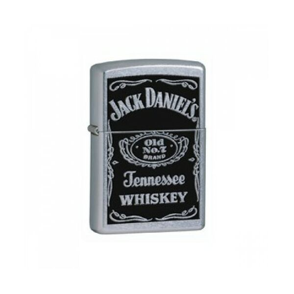 24779 Zippo öngyújtó, króm színű, Jack Daniels felirattal