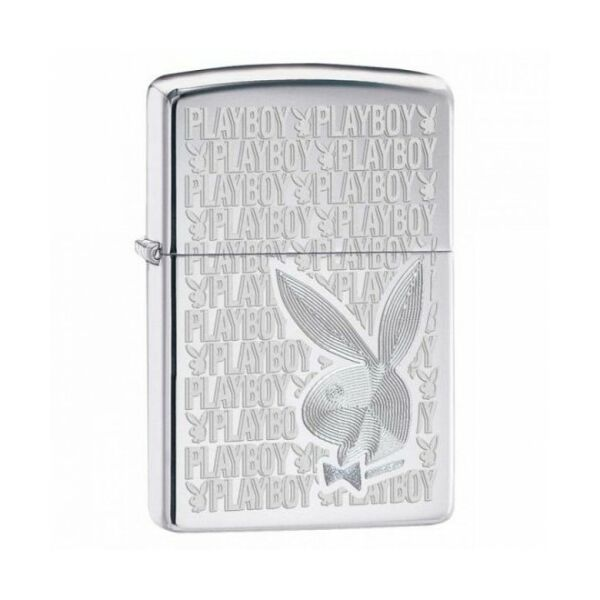 28545 Zippo öngyújtó, fényes króm színben - Playboy