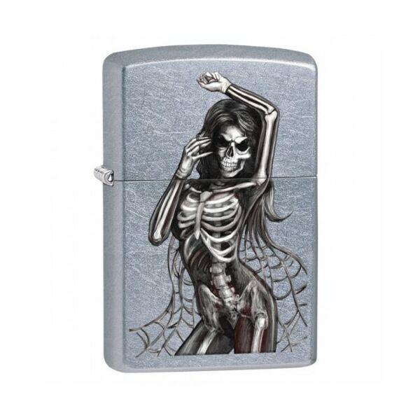 29403 Zippo öngyújtó, Ezüst színben - Csontváz Lady